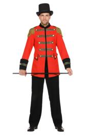 Circus directeur jas rood