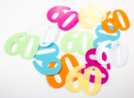 Tafeldecoratie / sier confetti 60 jaar XL