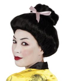 Pruik Geisha Deluxe