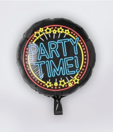 Neon folieballon Party time