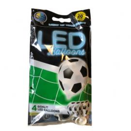 4 LED Balloons  goal white