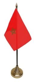 Tafelvlag Marokko zwart