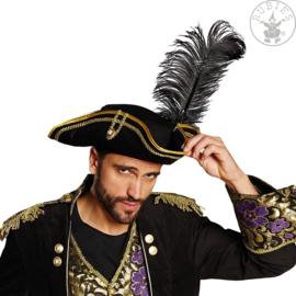Piratenhoed | zwart