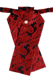 Plastron deluxe zwart rood