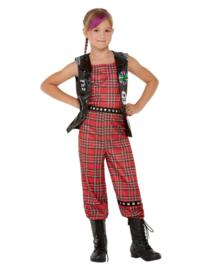 Punk rocker kostuum meisjes