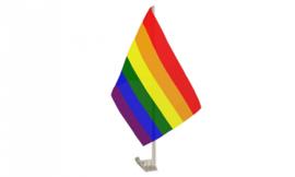 Regenboog auto vlaggetje