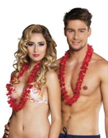 Hawaii krans rood easy 100 stuks