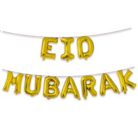 Eid Mubarak folieballonnen set gold