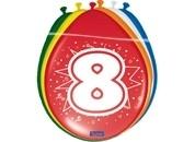 Ballonnen 8 jaar (assorti kleuren)