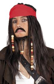Piraten pruik tobias