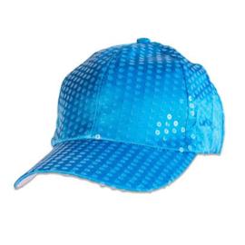 Baseball pet paillet  | neon blauw