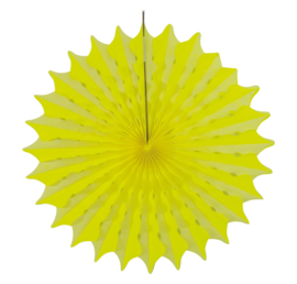 Honeycomb fan neon geel