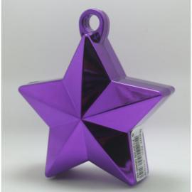 Star ballongewicht metallic paars