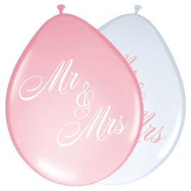 Ballonnen rosen bruiloft