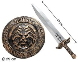 Viking warrior schild zwaard set | brons