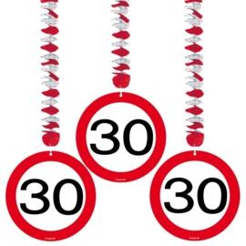 Hangdecoratie Verkeersbord 30 jaar