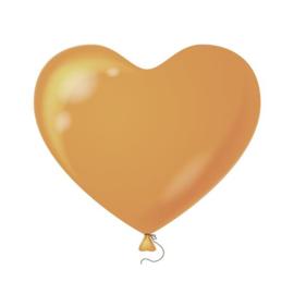 Hartenballonnen zalm 100 st.