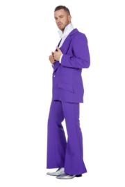 Disco fever kostuum paars