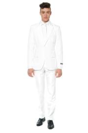 Solid white suitmeister kostuum