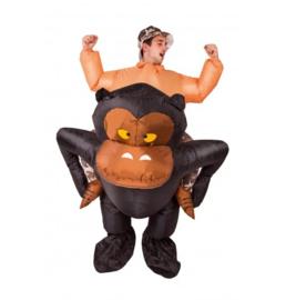 Opblaasbaar gorilla gedragen kostuum