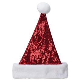 Kerstmuts pailletten | rood