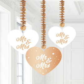 Hangdecoratie mr.&mrs. rose gold