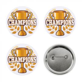 Set 4 Buttons 'Champions' | Kampioenen