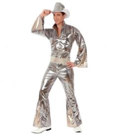 Disco abba kostuum zilver
