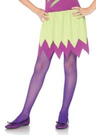 Netpanty kinderen neon paars op=op