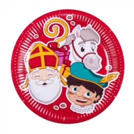 Set 6 Papieren bordjes Sinterklaas