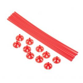 10 Ballon sticks 40cm rood