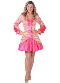 Dames Jas Brocaat burlesque neon pink