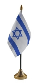 Tafelvlag Israel zwart