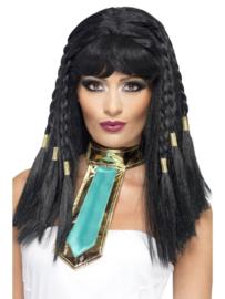 Cleopatra pruik dames luxe