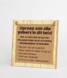 Wooden sign - Pubers |