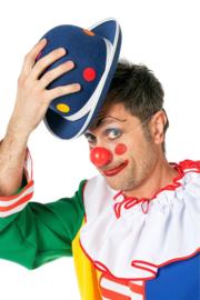 Clowns hoed dots blauw