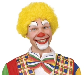 Clownspruik geel
