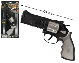 Stoer politie wapen | zwart en zilver