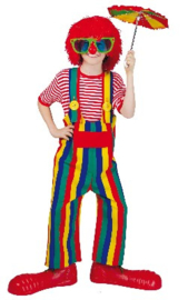 Clowns tuinbroek gestreept