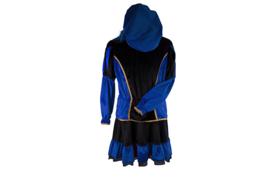 Pieten jurk Marcia zwart blauw deluxe