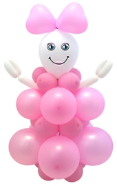 Baby girl DIY balloon kit
