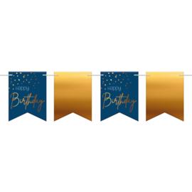 Vlaggenlijn Elegance true blue Happy birthday