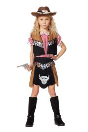 Cowgirl buffalo kostuum