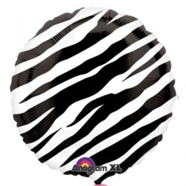 Folieballon rond zebra