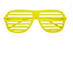 Lamellen bril neon geel