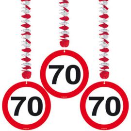 Hangdeco verkeersbord 70 jaar