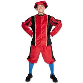 Pieten kostuum katoen pro rood
