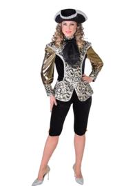 Markiezin kostuum zwart glitter