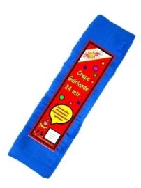 Crepe guirlande - slingers -- blauw