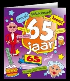 Fun wenskaart 65 jaar